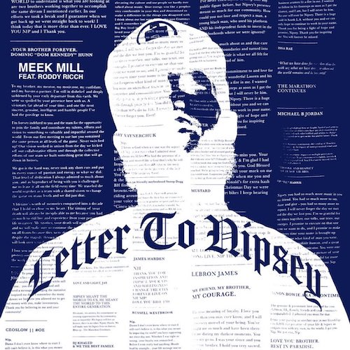 Meek Mill - Letter To Nipsey Ft. Roddy Ricch